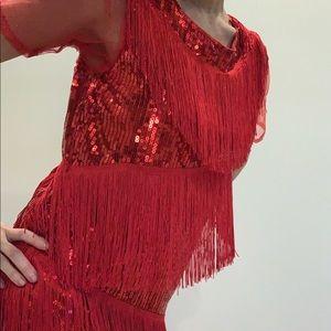 Flappy styled fringe dress